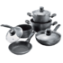 MODELIS: 6588<br />Stoneline 1 sauce pan, 1 stewing pan, 1 frying pan, die-cast aluminium, black,