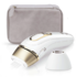 MODELIS: PL5124<br />Braun IPL Epilator  PL5124 Number of speeds 3 comfort modes  Normal, gentle or extra gentle setting. Gentle and extra gentle setting reduce the energy level for beginners or treating sensitive areas., Number of intensity levels 10, Bulb lifetime (flashes) 400000, White/Gold