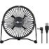 MODELIS: 62060<br />Goobay 62060 4 Inch Desktop USB fan Desk Fan, Number of speeds 1, Diameter 13 cm, Black
