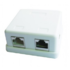 MODELIS: NCAC-HS-SMB2<br />Gembird single jack surface mount box 2xRJ45 cat.5 half-shielded keystone, white