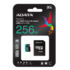MODELIS: AUSDX256GUI3V30SA2-RA1<br />ADATA 256GB Premier Pro MICROSDXC, R/W up to 100/80 MB/s, with Adapter