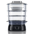 MODELIS: HD9126<br />PHILIPS HD9126/00 Food Steamer, Black, 900W, 3 tiers (2.5/2.6/3.5 l), Water level indicator, Overheat and dry boil protection, 1 l water tank, 0.8m cord