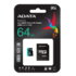 MODELIS: AUSDX64GUI3V30SA2-RA1<br />ADATA 64GB Premier Pro MICROSDXC, R/W up to 100/80 MB/s, with Adapter