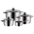 MODELIS: 07.7414.6380.<br />WMF Cookware set, 4 pieces  QUALITY ONE Cromargan® 18/10 stainless steel, Stainless steel, Dishwasher proof, Lid included