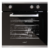 MODELIS: HFG-600 07031303<br />Cata HFG-600 Black Glass Gas Oven, 67L, 4 functions, Mechanical cooking programmer, 5 shelf positions, Black