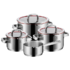 MODELIS: 0760066380<br />WMF Function 4 Cookware set, 3 pots (16/20/24 cm), 1 stewing pan (16 cm) WMF Cookware set  Function 4 Cromargan® 18/10 stainless steel, Stainless steel, Dishwasher proof, Lid included