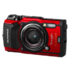 "MODELIS: V104190RE000<br />Olympus TG-5 Compact camera, 12 MP, Optical zoom 4 x, Image stabilizer, ISO 12800, Display diagonal 3.0 "", Wi-Fi, Focus TTL, Video recording, Lithium‑Ion, Red"