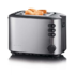 MODELIS: AT 2514<br />Severin Automatic toaster AT 2514 Stainless steel/Black, Heat insulated stainless steel housing, 850 W, Number of slots 2, Bun warmer included
