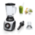 MODELIS: MMB64G6M<br />Bosch SilentMixx MMB64G6M Black/Stainless steel, 800 W, Glass, 2.3 L, Ice crushing, Mini chopper, Type Tabletop