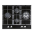 MODELIS: 08041209<br />CATA LCI 631 A BK Gas on glass, Number of burners/cooking zones 4, Black